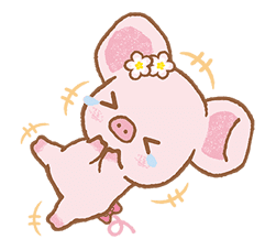 Piggy girl's Pinkish Days sticker #69904