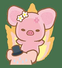 Piggy girl's Pinkish Days sticker #69905