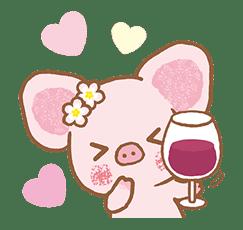 Piggy girl's Pinkish Days sticker #69906