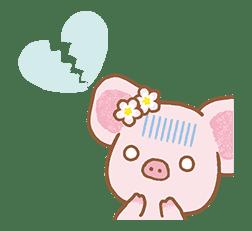 Piggy girl's Pinkish Days sticker #69907
