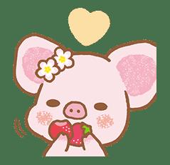 Piggy girl's Pinkish Days sticker #69908