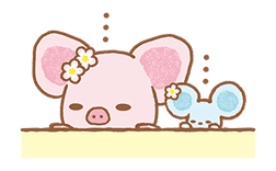 Piggy girl's Pinkish Days sticker #69909