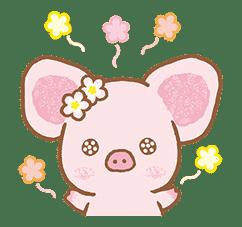 Piggy girl's Pinkish Days sticker #69910