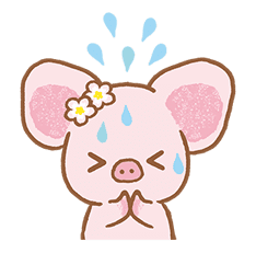 Piggy girl's Pinkish Days sticker #69912