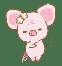 Piggy girl's Pinkish Days sticker #69914