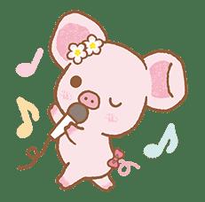 Piggy girl's Pinkish Days sticker #69915