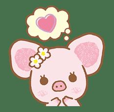 Piggy girl's Pinkish Days sticker #69916
