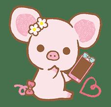 Piggy girl's Pinkish Days sticker #69918