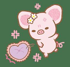 Piggy girl's Pinkish Days sticker #69919