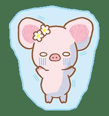 Piggy girl's Pinkish Days sticker #69920