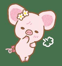 Piggy girl's Pinkish Days sticker #69923