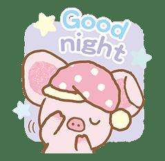 Piggy girl's Pinkish Days sticker #69927