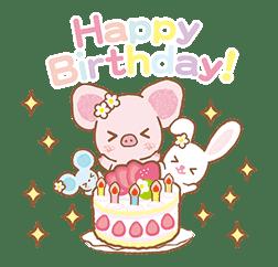 Piggy girl's Pinkish Days sticker #69928