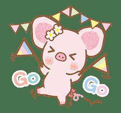 Piggy girl's Pinkish Days sticker #69929