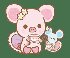 Piggy girl's Pinkish Days sticker #69930
