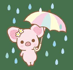 Piggy girl's Pinkish Days sticker #69931