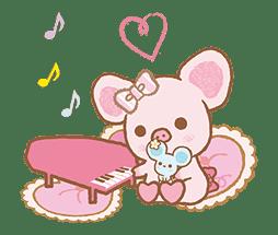 Piggy girl's Pinkish Days sticker #69932