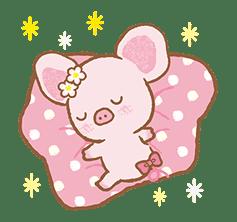 Piggy girl's Pinkish Days sticker #69933