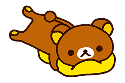 Rilakkuma's Lazy Life sticker #694004