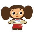 Cheburashka: Animated Stickers