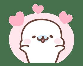 Mamegoma! Pitter-Patter Hearts sticker #4807304