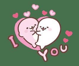 Mamegoma! Pitter-Patter Hearts sticker #4807305