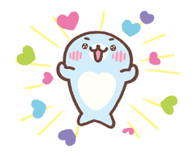 Mamegoma! Pitter-Patter Hearts sticker #4807314