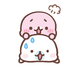 Mamegoma! Pitter-Patter Hearts sticker #4807316