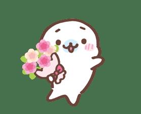 Mamegoma! Pitter-Patter Hearts sticker #4807325