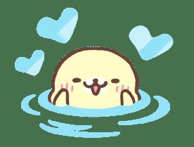 Mamegoma! Pitter-Patter Hearts sticker #4807327