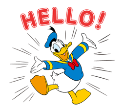 Animated Donald Duck sticker #8344841