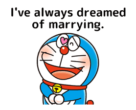Doraemon: Moving Love Quotes! sticker #11254073