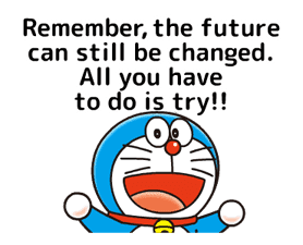 Doraemon: Moving Love Quotes! sticker #11254079