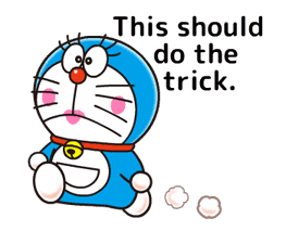 Doraemon: Moving Love Quotes! sticker #11254080
