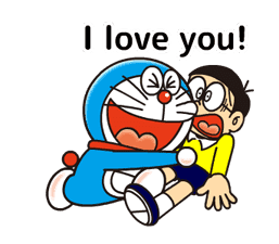 Doraemon: Moving Love Quotes! sticker #11254082