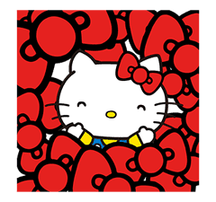 Hello Kitty Pouncing Pop-Up Stickers sticker #11559982