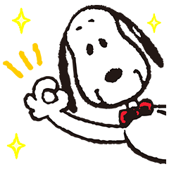 SNOOPY Pop-Up Stickers