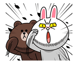 LINE Characters: Overreaction! sticker #13137478