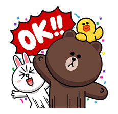 LINE Characters: Overreaction! sticker #13137483