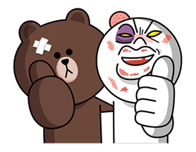 LINE Characters: Overreaction! sticker #13137490