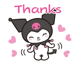 Animated Kuromi sticker #13274542