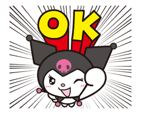 Animated Kuromi sticker #13274543