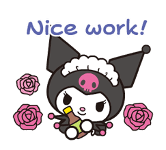 Animated Kuromi sticker #13274544