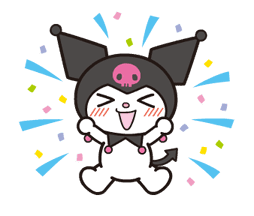 Animated Kuromi sticker #13274545