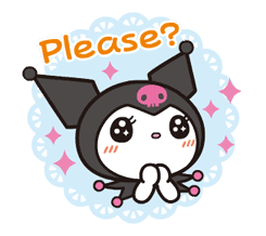 Animated Kuromi sticker #13274546