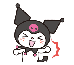 Animated Kuromi sticker #13274547