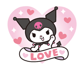 Animated Kuromi sticker #13274549