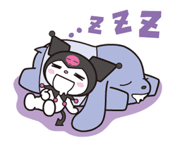 Animated Kuromi sticker #13274550