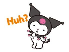 Animated Kuromi sticker #13274551