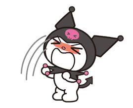 Animated Kuromi sticker #13274552